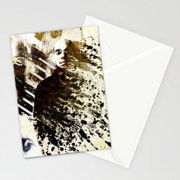Splatter-Portrait Stationery Cards
