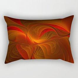 Warmth, Abstract Fractal Art Rectangular Pillow
