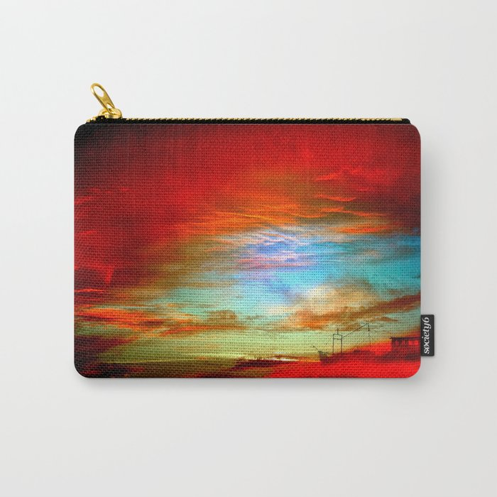Seascape With Boat By Annie Zeno  Carry-All Pouch