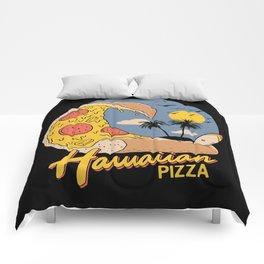 Hawaiian Pizza Comforters
