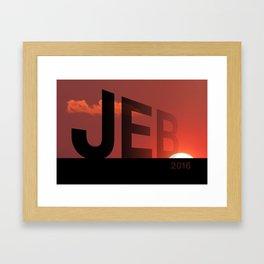 Sunset In America.  Framed Art Print