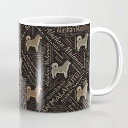 Alaskan Malamute dog Word Art Coffee Mug