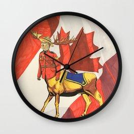 Mountie Moose Centaur Wall Clock