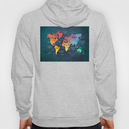 world map 49 color Hoody
