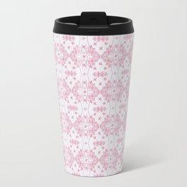 Abstract pastel pink lavender modern cross stitch pattern Travel Mug