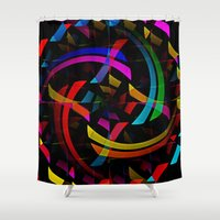 happy birthday Shower Curtains featuring Happy Birthday by Fringeman