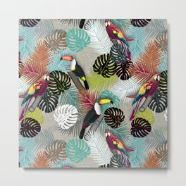 Tropical Birds (Color 2 - Bold) Metal Print