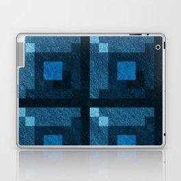 Blue Green Pixel Blocks Laptop & iPad Skin