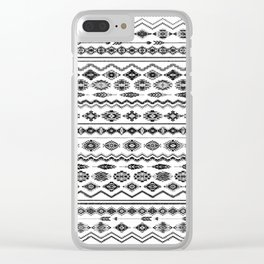 cockatoo (monochrome series) Clear iPhone Case