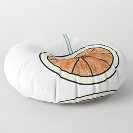 bright orange and cocktail straw . (  view:  https://society6.com/totalflora/collection ) Floor Pillow