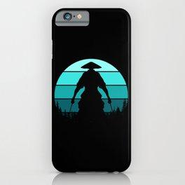 Samurai Silhouette iPhone Case
