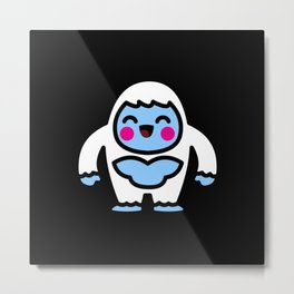 Kawaii Eis Monster Yeti Geschenkidee Design Motiv Metal Print