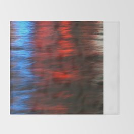 Citylights: Hong Kong Harbour #1 - RIGHT - Diptychon Throw Blanket