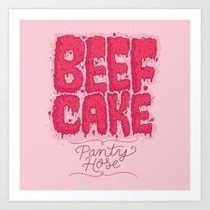 Beef Cake Art Print