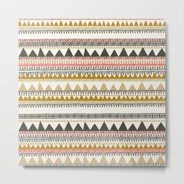 Mountain triangle pattern Metal Print