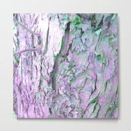 Purple Tree Bark Metal Print