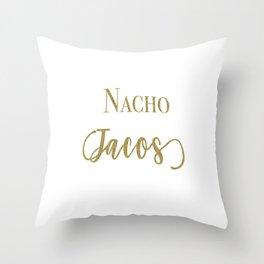 Nacho Tacos Throw Pillow