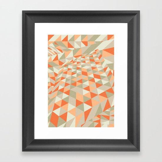 Triangulation Framed Art Print
