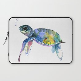 Sea Turtle, children artwork Illustration Laptop Sleeve