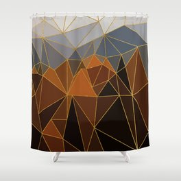Autumn abstract landscape 4 Shower Curtain
