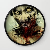 dead Wall Clocks featuring UNDEAD by Fresh Doodle - JP Valderrama