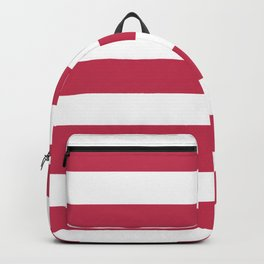 Dingy Dungeon - solid color - white stripes pattern Backpack