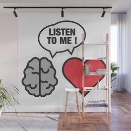 head vs. heart Wall Mural