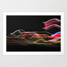 Traveling Lights Series No.8 Art Print