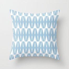 Mid Century Modern Diamond Pattern Pale Blue 234 Throw Pillow
