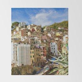 Riomaggiore, Cinque Terre, Italy Throw Blanket