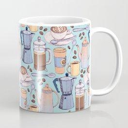 Coffee Love on Blue Coffee Mug