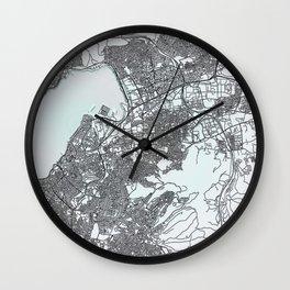 Izmir, Turkey, White, City, Map Wall Clock