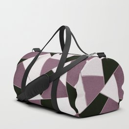 Mauve Black Geometric Glam #1 #geo #decor #art #society6 Duffle Bag