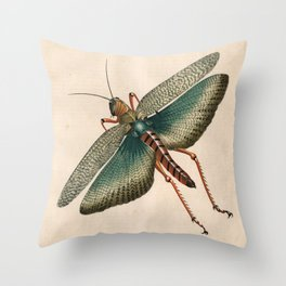 Big Grasshopper Throw Pillow