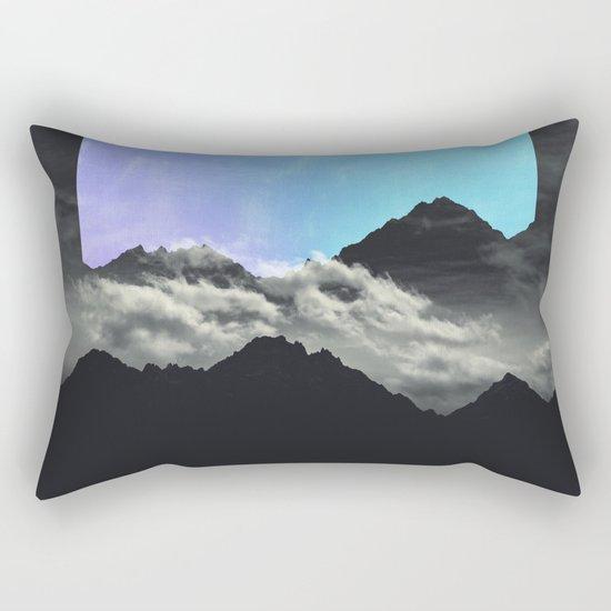 echo mountains Blue Rectangular Pillow