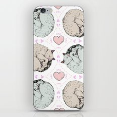 Sleepy Kitty Pattern iPhone Skin