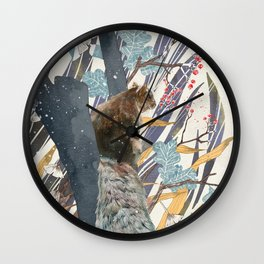 waiting for autumn Wall Clock