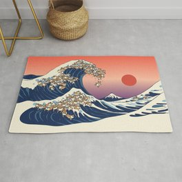 The Great Wave of Shiba Inu Rug