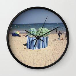 Twin Umbrella's and the Sun! Wall Clock