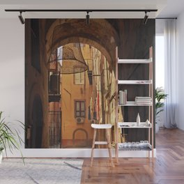 ARCHWAY and Sardinian fish traps Wall Mural