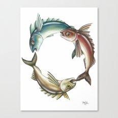 Circle of Fish Canvas Print