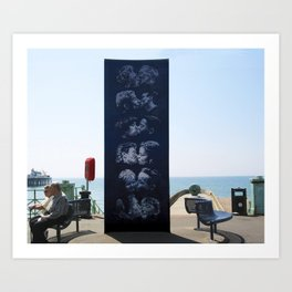 The Kiss Wall, Brighton, UK Art Print