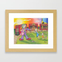 Circus Scare Framed Art Print