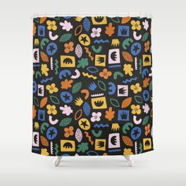 Shapes & Plants IV Shower Curtain