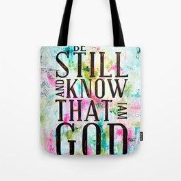 Psalm 46:10  Tote Bag