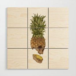 Pineapple Skull Wood Wall Art