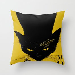 Vintage poster - Black Cat Throw Pillow