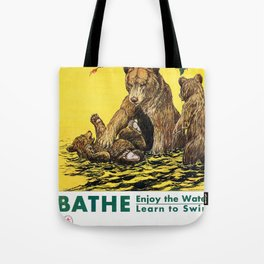 Vintage Poster - Learn To Swim Tote Bag