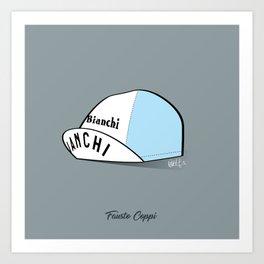 Grimpeur - Coppi cap Art Print