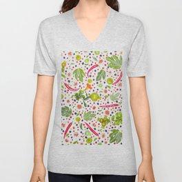 Fruits and vegetables pattern (7) Unisex V-Neck